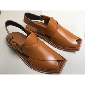 Hafzan Peshawari Chappal All Leather brown
