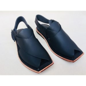 Hafzan Peshawari Chappal All Leather black